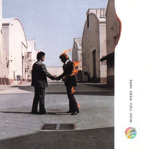 Обложка альбома Pink Floyd - Wish you were here. Автор - Storm Thorgerson / Сторм Торгерсон