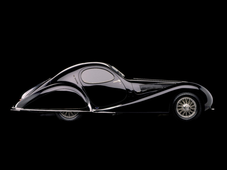 Black Talbot-Lago T23 Teardrop Coupé