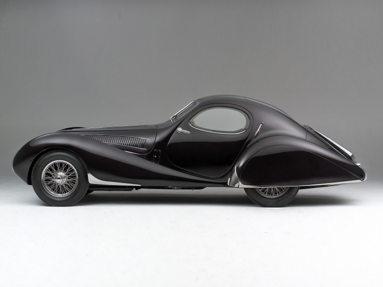 Black Talbot-Lago T23 Teardrop Coupé