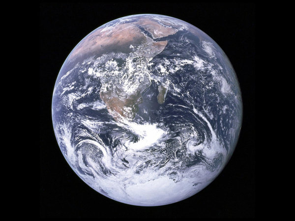 Фотография Земли, сделанная Апполоном 17 в 1972 году