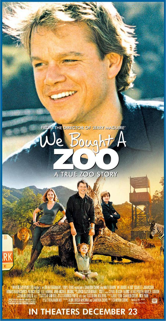 """афиша фильма """"Мы купили зоопарк"""""""