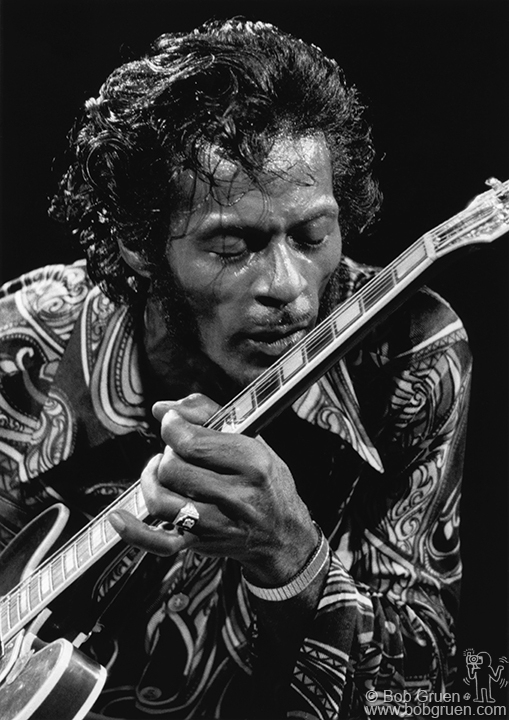 Chuck Berry, 1971. Photo by Bob Gruen