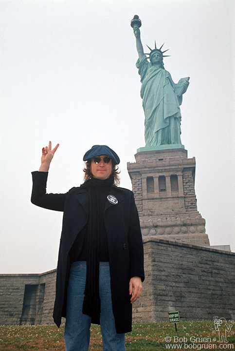 John Lennon, 1974. Photo by Bob Gruen