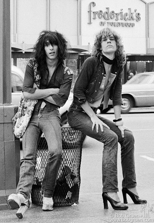 New York Dolls' Johnny Thunder and David Johansen, 1973