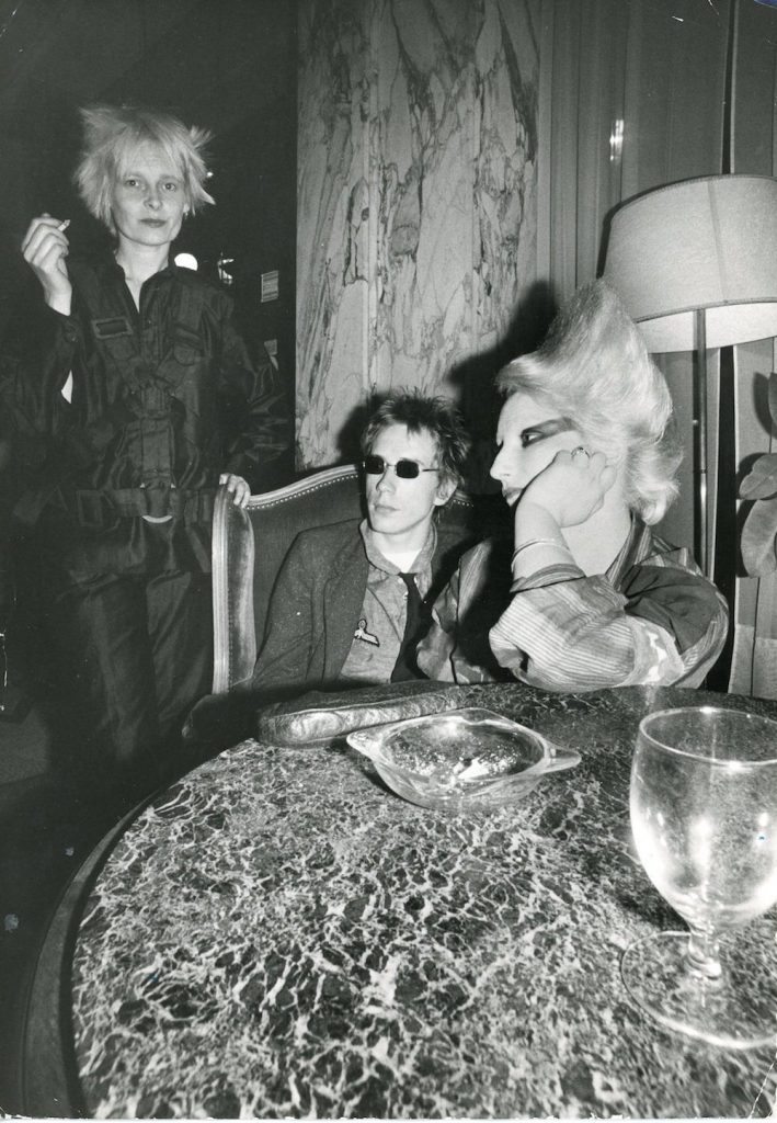 Johnny Rotten, Jordan and Vivienne Westwood,
