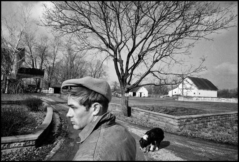 USA. Fairmount, Indiana. 1955. James DEAN in the driveway to the farm owned by his uncle, Marcus Winslow.