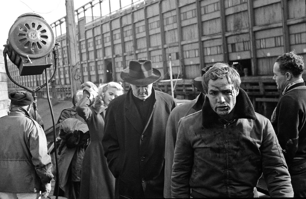 "USA. New York. 1954.  Marlon BRANDO during the filming of ""On the Waterfront."""