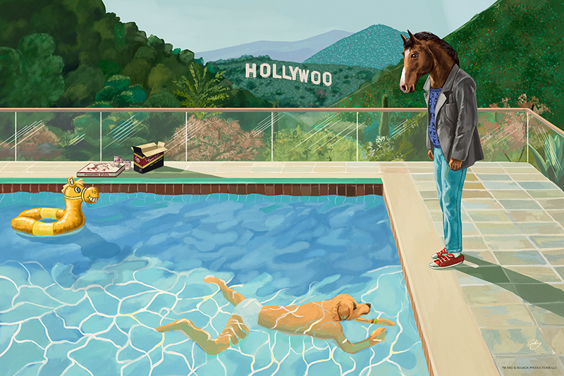 10-sam-gilbey-hollywoo-with-two-figures-after-hockney